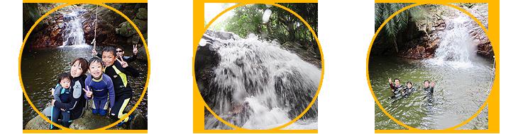ミニジャングルの滝の写真
