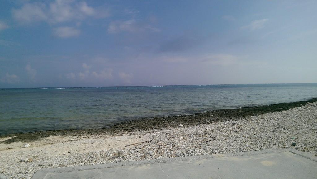多田浜から見た南側の海