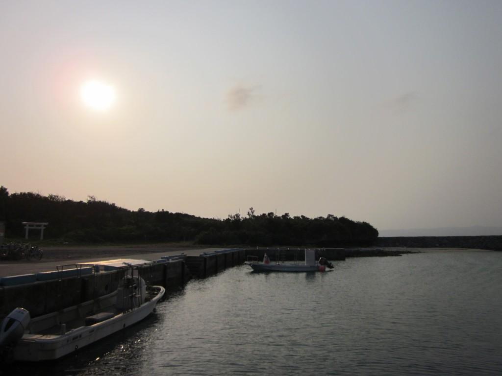 船に乗って石垣へ戻る時に撮った写真です。