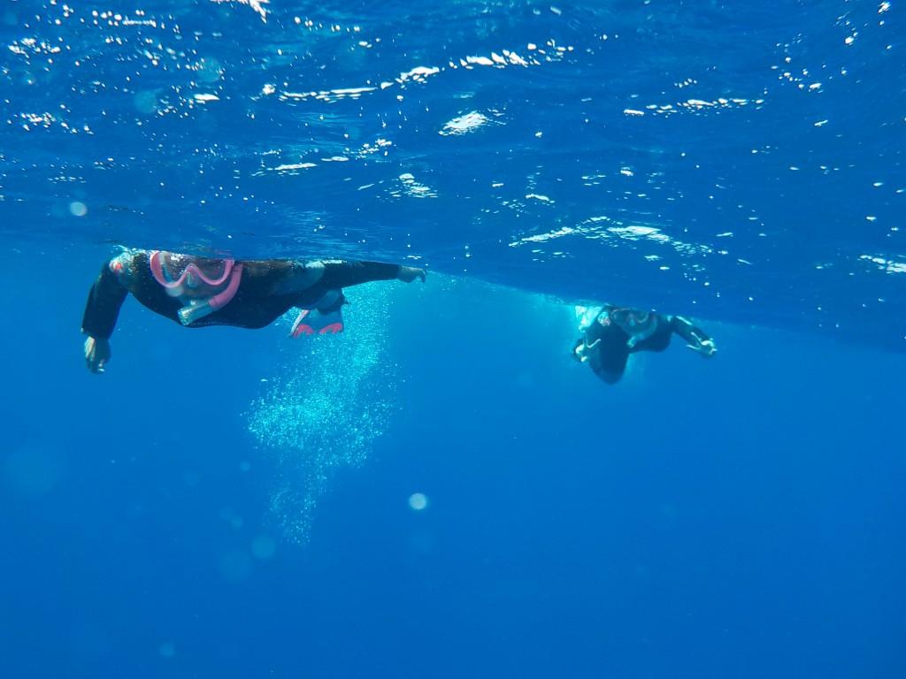 下は深い海をシュノーケルしてます⭐︎