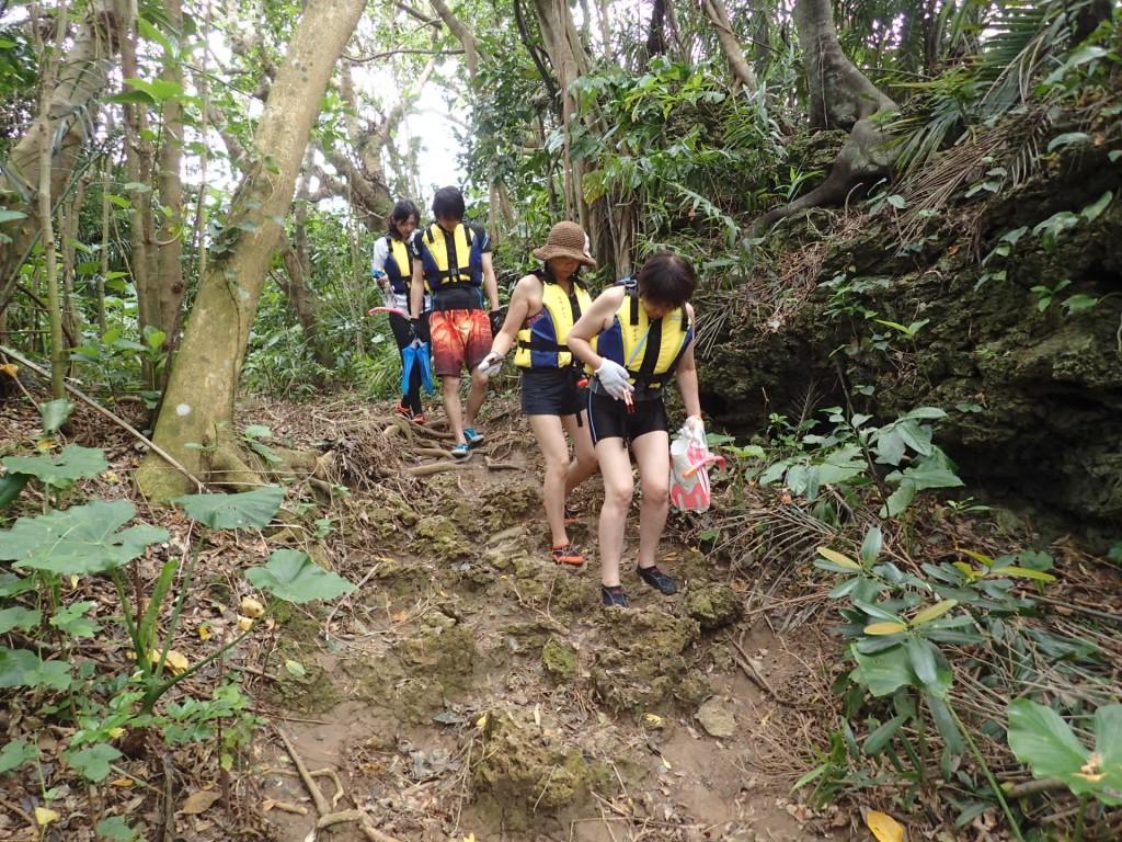 ジャングルを抜けて青の洞窟へ