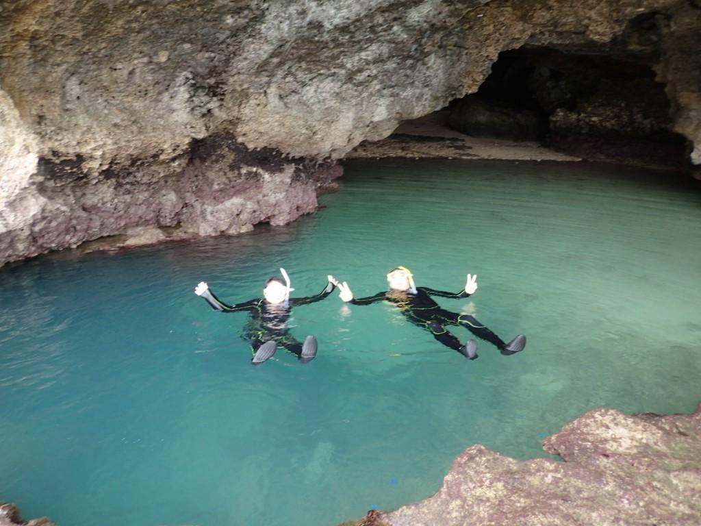 青の洞窟で贅沢な使い方